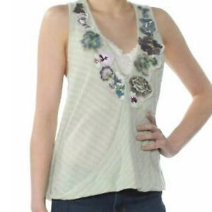 Free People Frida Embroidered Faux-Wrap Tank Top